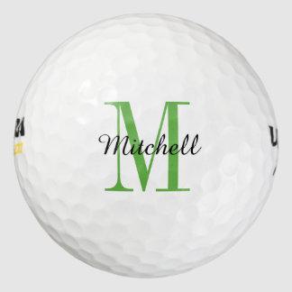 Pelotas de golf personalizadas monograma pack de pelotas de golf