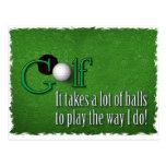 pelotas de golf postal