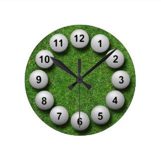 Pelotas de golf reloj de pared