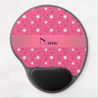 Pelotas de golf rosadas conocidas personalizadas alfombrilla de ratón con gel