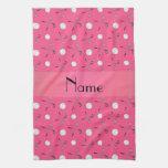 Pelotas de golf rosadas conocidas personalizadas toalla