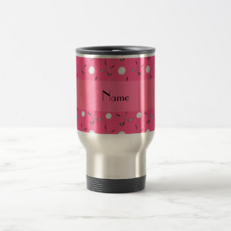 Pelotas de golf rosadas conocidas personalizadas taza de viaje