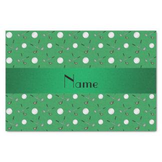 Pelotas de golf verdes conocidas personalizadas papel de seda pequeño