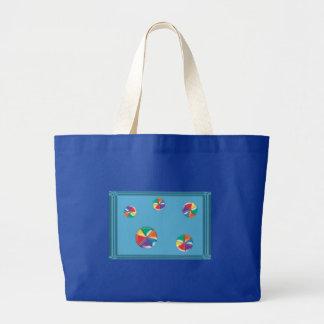 Pelotas de playa coloridas bolsa lienzo