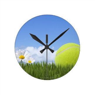 Pelotas de tenis reloj redondo mediano