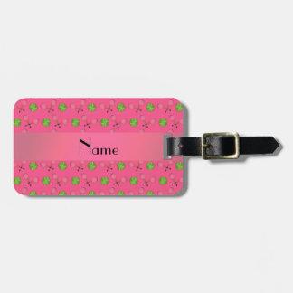 Pelotas de tenis rosadas conocidas personalizadas etiquetas para equipaje