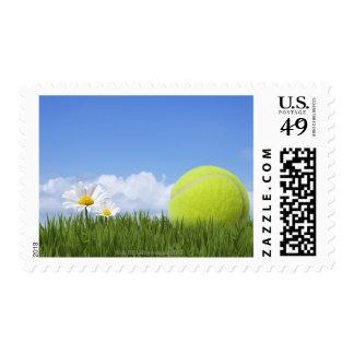 Pelotas de tenis sello postal