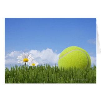 Pelotas de tenis tarjeta de felicitación