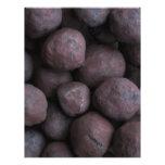 Pelotillas del mineral de hierro membretes personalizados