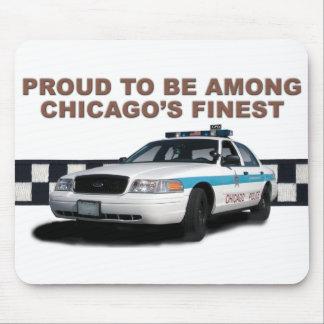 """Pelotón Checkerband """"Chicago más fina"""" (primer) Tapetes De Ratones"""