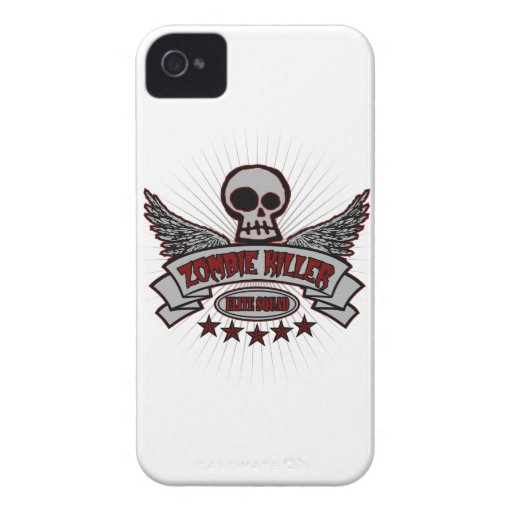 Pelotón de la élite del asesino del zombi Case-Mate iPhone 4 fundas