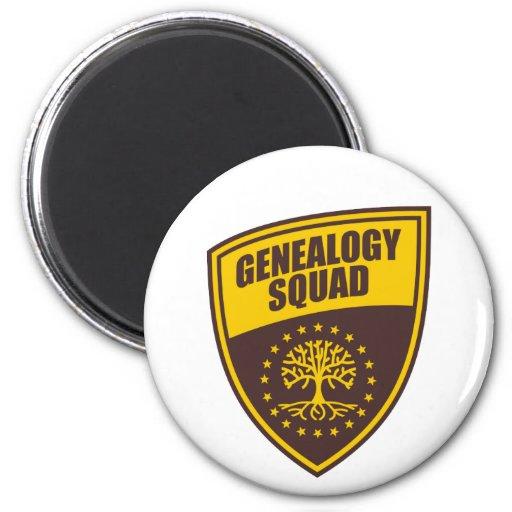 Pelotón de la genealogía imán redondo 5 cm