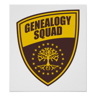 Pelotón de la genealogía impresiones