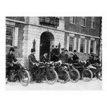 Pelotón de la motocicleta, 1900s tempranos tarjeta postal