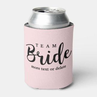 Pelotón de la novia, novia del equipo, banquete de enfriador de latas