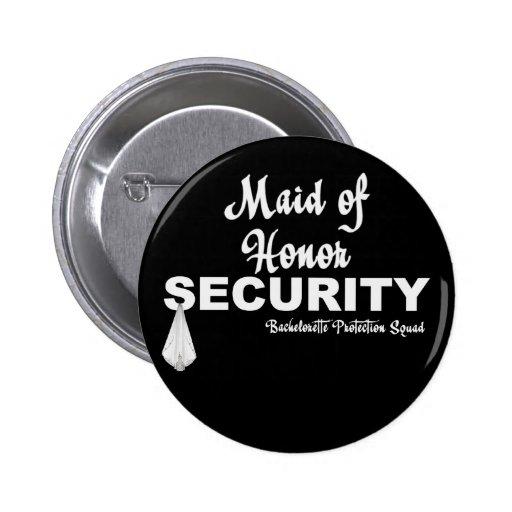Pelotón de la protección del KRW Bachelorette Pin Redondo 5 Cm
