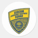 Pelotón de la respuesta de emergencia de GEDCOM Etiquetas Redondas