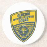 Pelotón de la respuesta de emergencia de GEDCOM Posavasos Personalizados