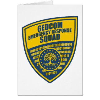 Pelotón de la respuesta de emergencia de GEDCOM Tarjeta De Felicitación