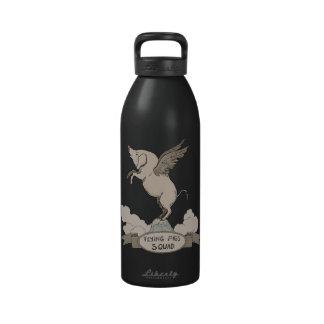 Pelotón de los cerdos del vuelo botellas de agua reutilizables