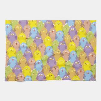 Pelotón de los polluelos toallas de mano