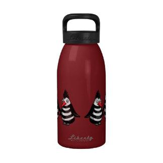 Pelotón de Ninja de los pingüinos del Punky Botella De Agua