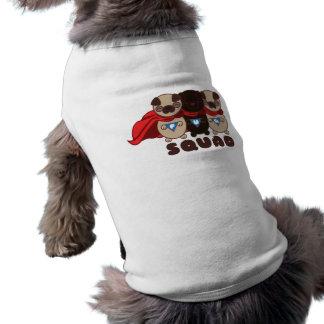 Pelotón del barro amasado con la camiseta negra playera sin mangas para perro