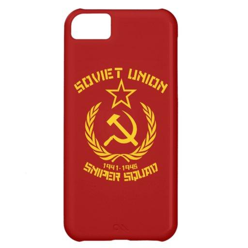 Pelotón del francotirador de Unión Soviética Funda Para iPhone 5C