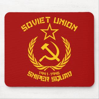 Pelotón del francotirador de Unión Soviética Alfombrilla De Ratón