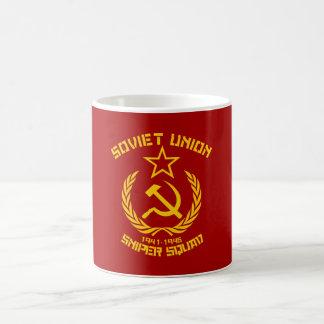 Pelotón del francotirador de Unión Soviética Taza De Café
