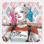 Pelotón del suicidio el | Harley Quinn Pegatina Cuadrada