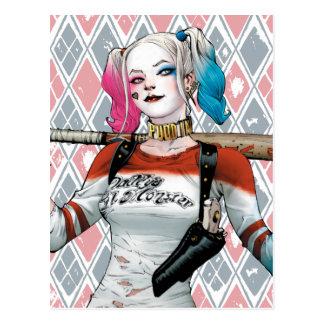 Pelotón del suicidio el | Harley Quinn Postal