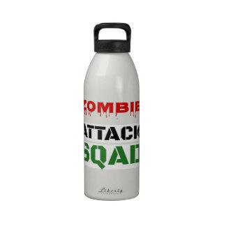 Pelotón divertido del ataque del zombi botellas de agua reutilizables
