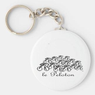 Peloton Basic Round Button Keychain