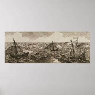 Pelsaert Sets Sail   Way Between Islands, Posters