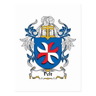 Pelt Family Crest Postcard