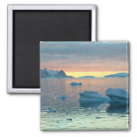 Peltier Channel in the last light of the day 2 Inch Square Magnet