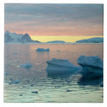Peltier Channel in the last light of the day Large Square Tile