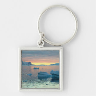 Peltier Channel in the last light of the day Silver-Colored Square Keychain