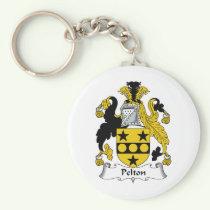 Pelton Family Crest Keychain