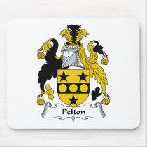 Pelton Family Crest Mousepad