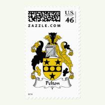 Pelton Family Crest Stamps