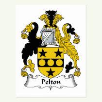 Pelton Family Crest Postcard