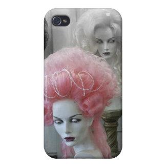 Peluca rosada de Marie Antonieta iPhone 4 Cárcasa