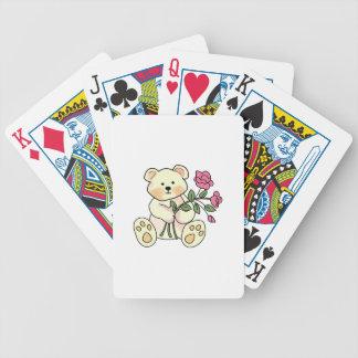 Peluche con las flores baraja cartas de poker