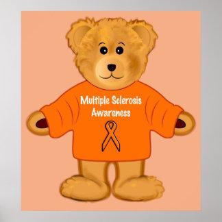 Peluche de la conciencia de la esclerosis múltiple poster