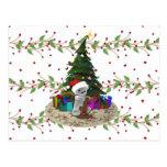 Peluche del árbol de navidad tarjetas postales