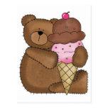 Peluche del helado de chocolate postales