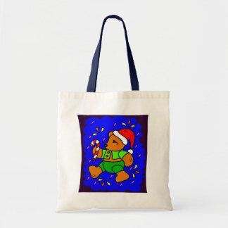 Peluche enrrollado del navidad bolsa tela barata
