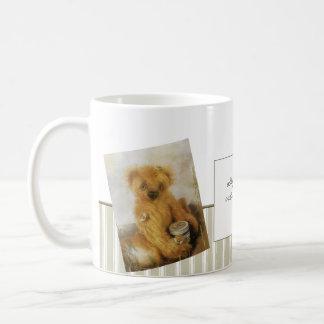 Peluche lindo del oso de miel personalizado tazas